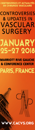 Controversies & Updates in Vascular Surgery CACVS 2018
